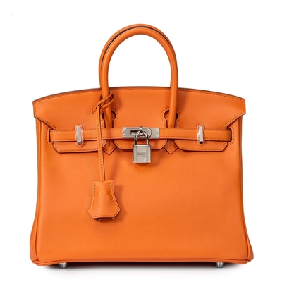 Hermès Birkin 25 Orange Swift Palladium Hardware
