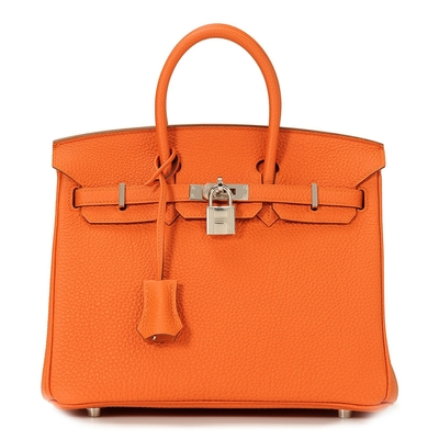 Hermès Birkin 25 Orange Togo Palladium Hardware