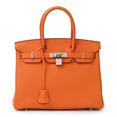 Hermès Birkin 30 Orange Togo Palladium Hardware