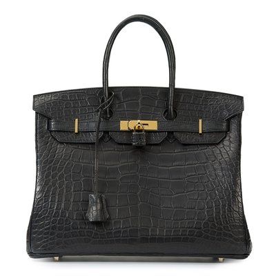 Hermès Birkin 35 Black Crocodile Gold Hardware