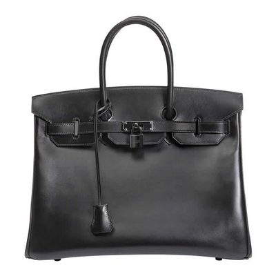 Hermès Birkin So Black 35 Box Ruthenium Hardware