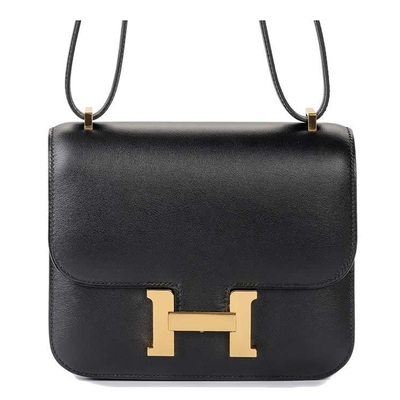 Hermès Constance Mini 18 Black Swift Gold hardware