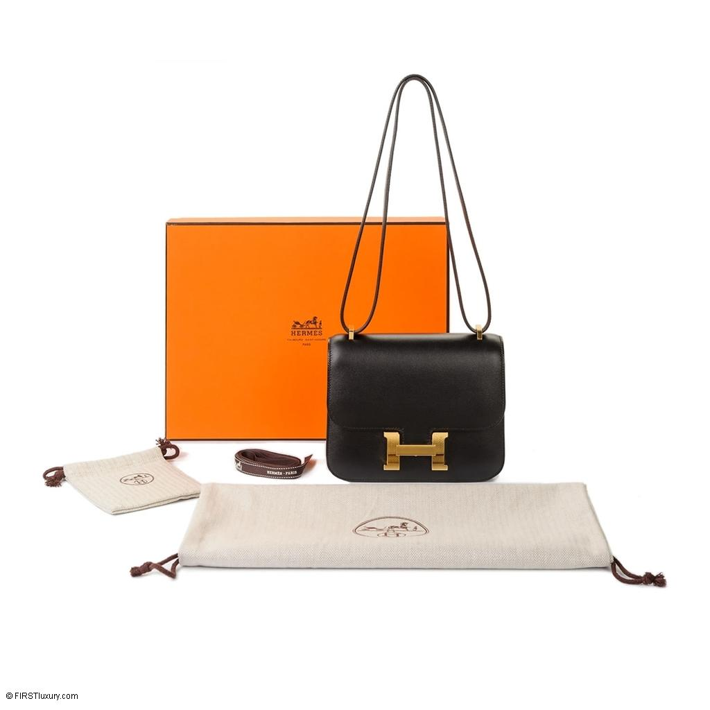 ba9ae707b325 Hermès Constance Mini 18 Black Swift Gold hardware