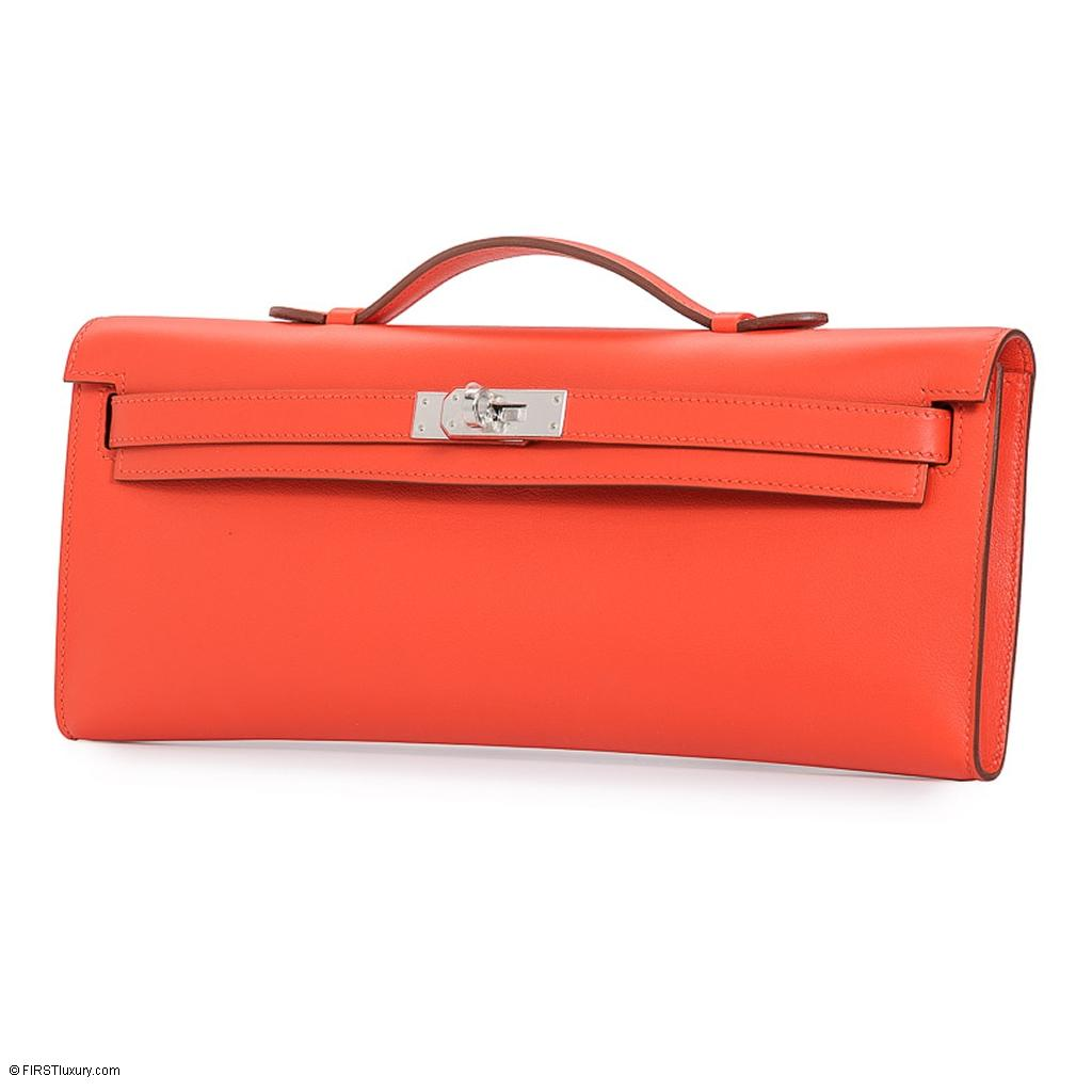 Hermès Kelly Cut Capucine Swift Palladium Hardware