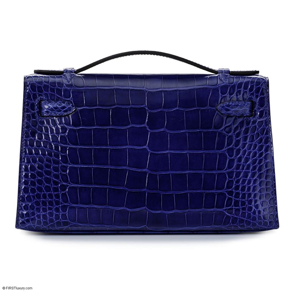 Hermès Kelly Mini Bleu Electrique Crocodile Gold Hardware