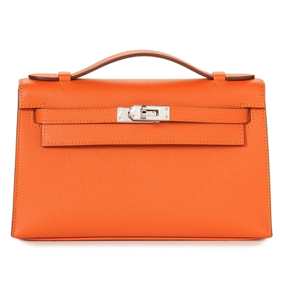 Hermès Kelly Mini Feu Epsom Palladium Hardware