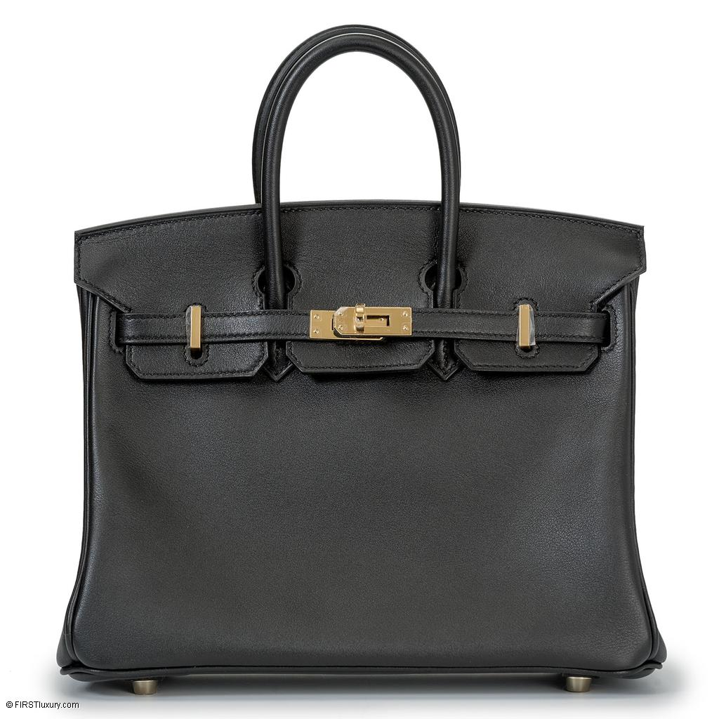 Hermès Birkin 25 Black Swift Gold Hardware