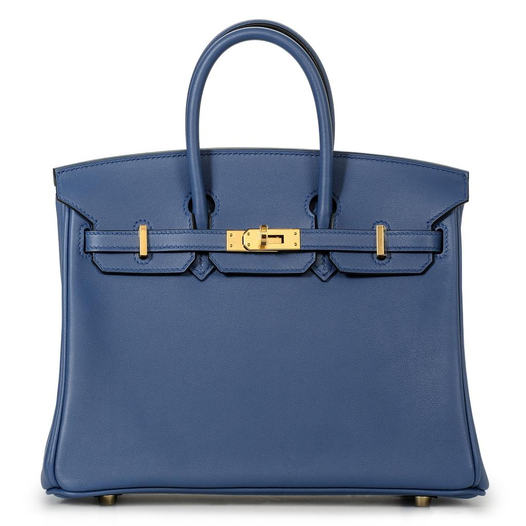 Hermès Birkin 25 Bleu Agate Swift Gold Hardware