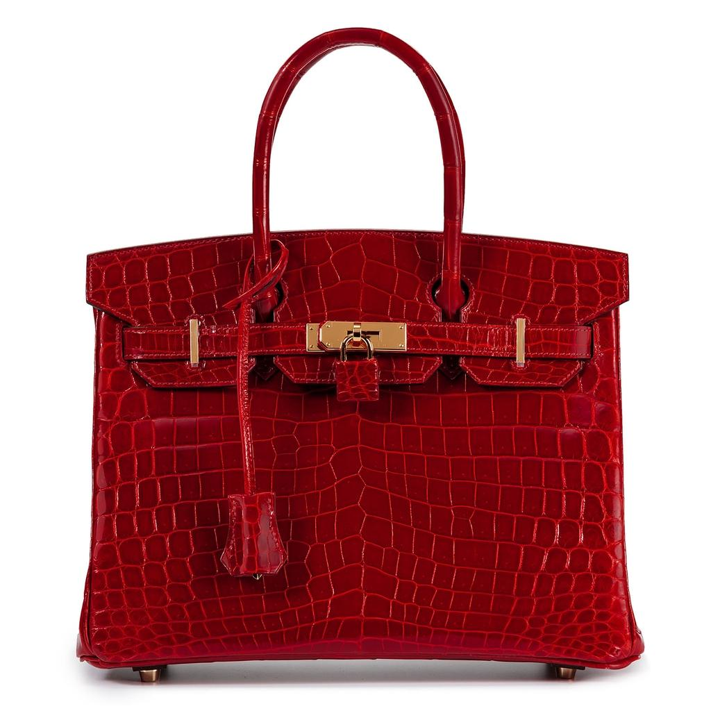 Hermès Birkin 30 Sanguine Crocodile Gold Hardware