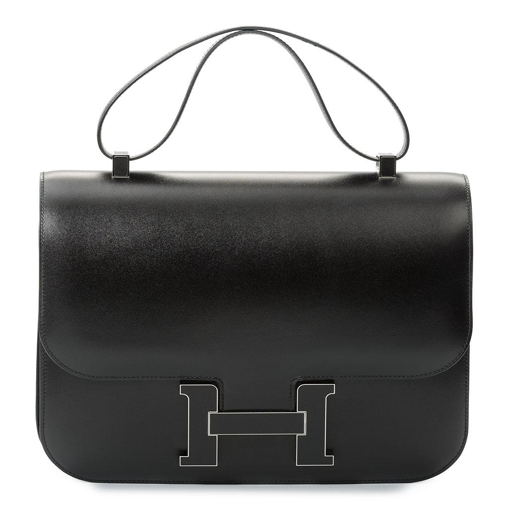 Hermès Constance Cartable Black Box Palladium Hardware