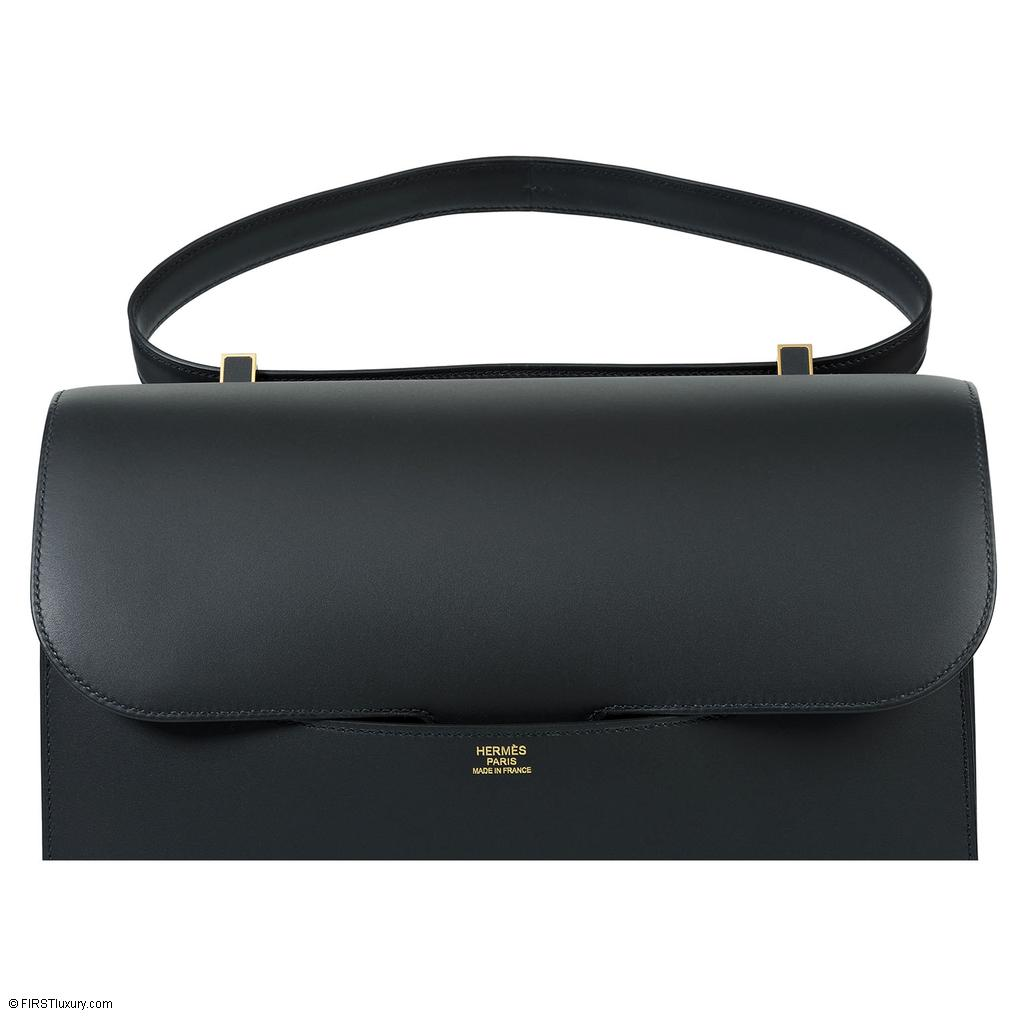 Hermès Constance Cartable Black Sombrero Gold Hardware