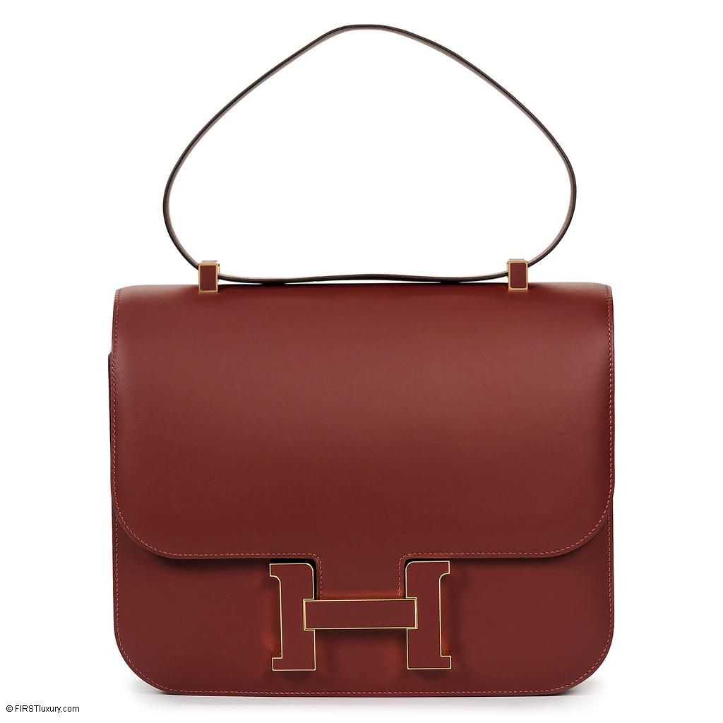 Hermès Constance Cartable Rouge H Sombrero Gold Hardware
