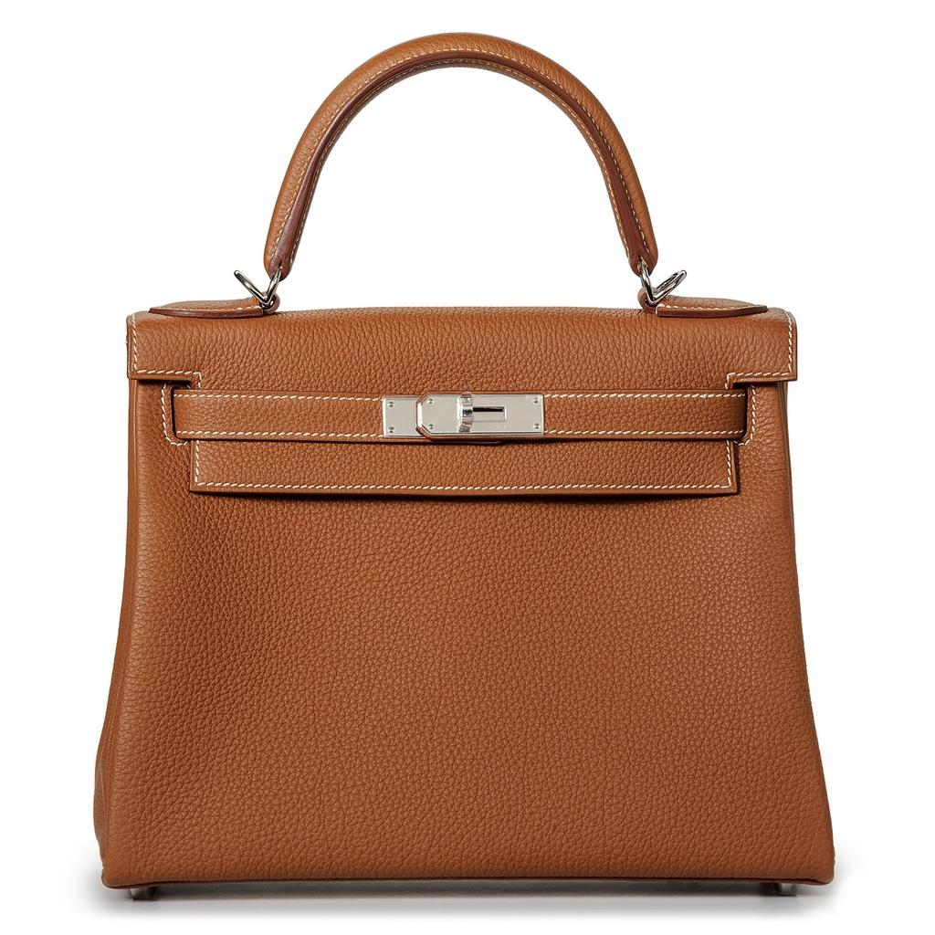 Hermès Kelly 28 Gold Togo Palladium Hardware