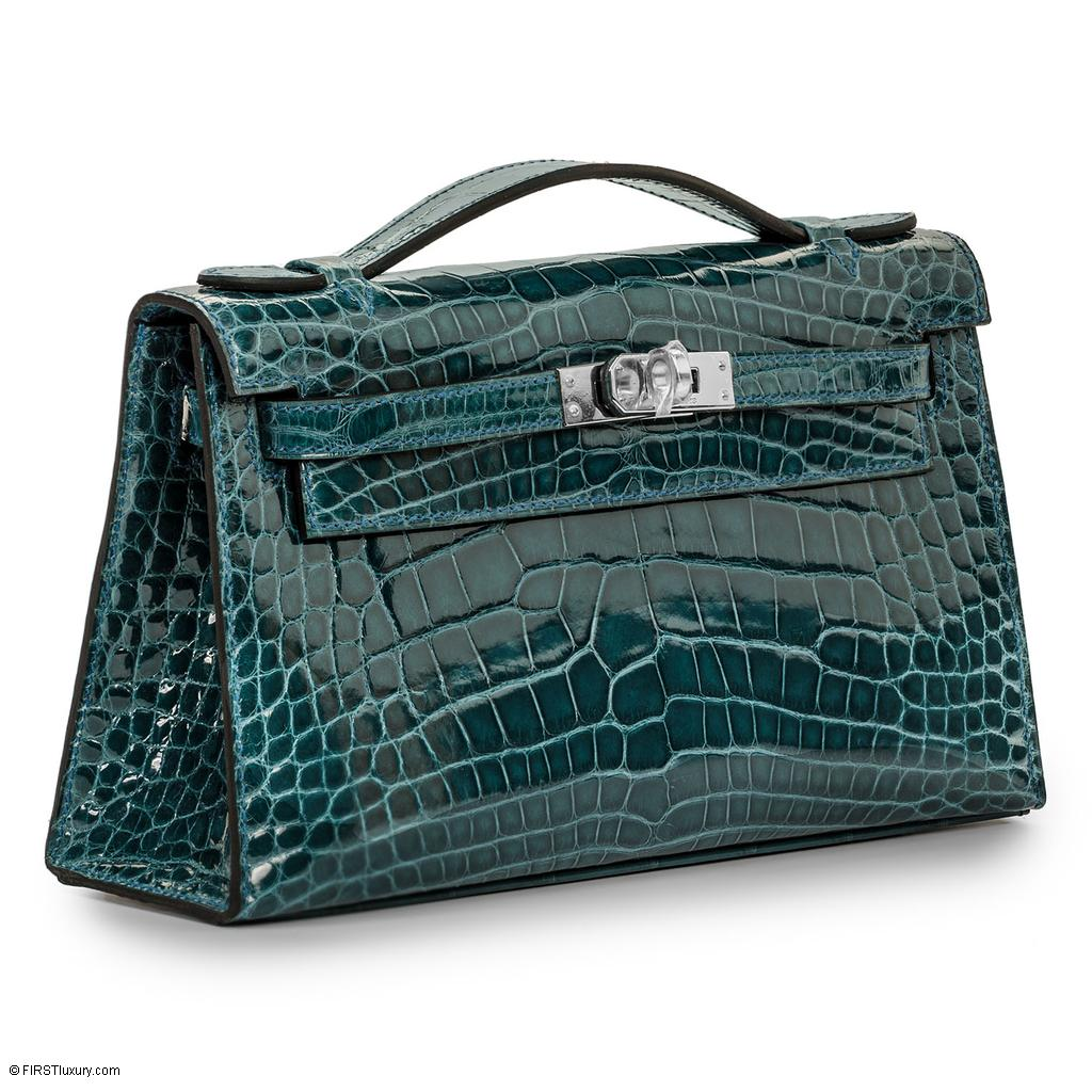Hermès Kelly Mini Colvert Shiny Alligator Palladium Hardware