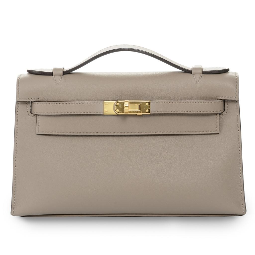 Hermès Kelly Mini Gris Asphalt Swift Gold Hardware