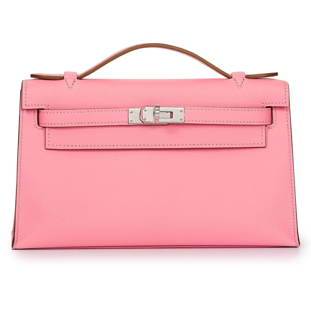 Hermès Kelly Mini Rose Confetti Epsom Palladium Hardware