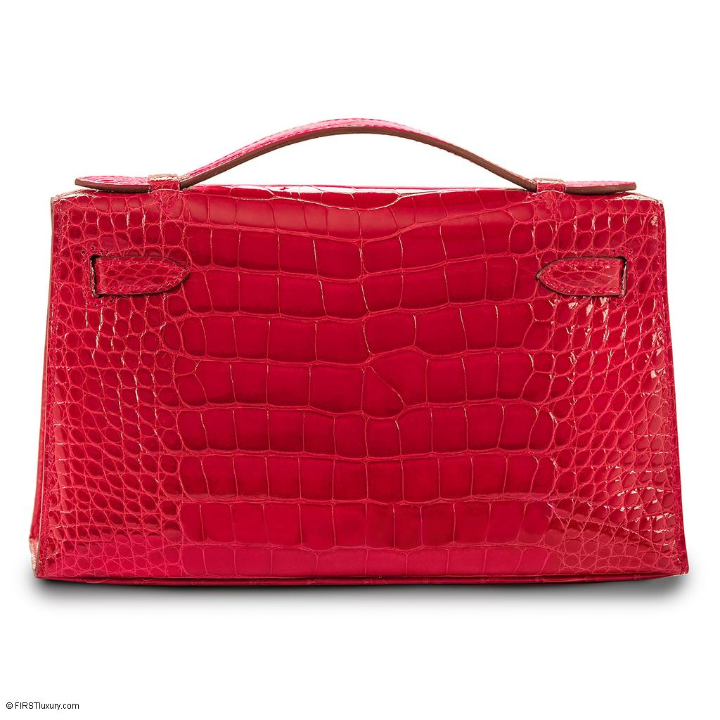 Hermès Kelly Mini Rouge Braise Crocodile Gold Hardware