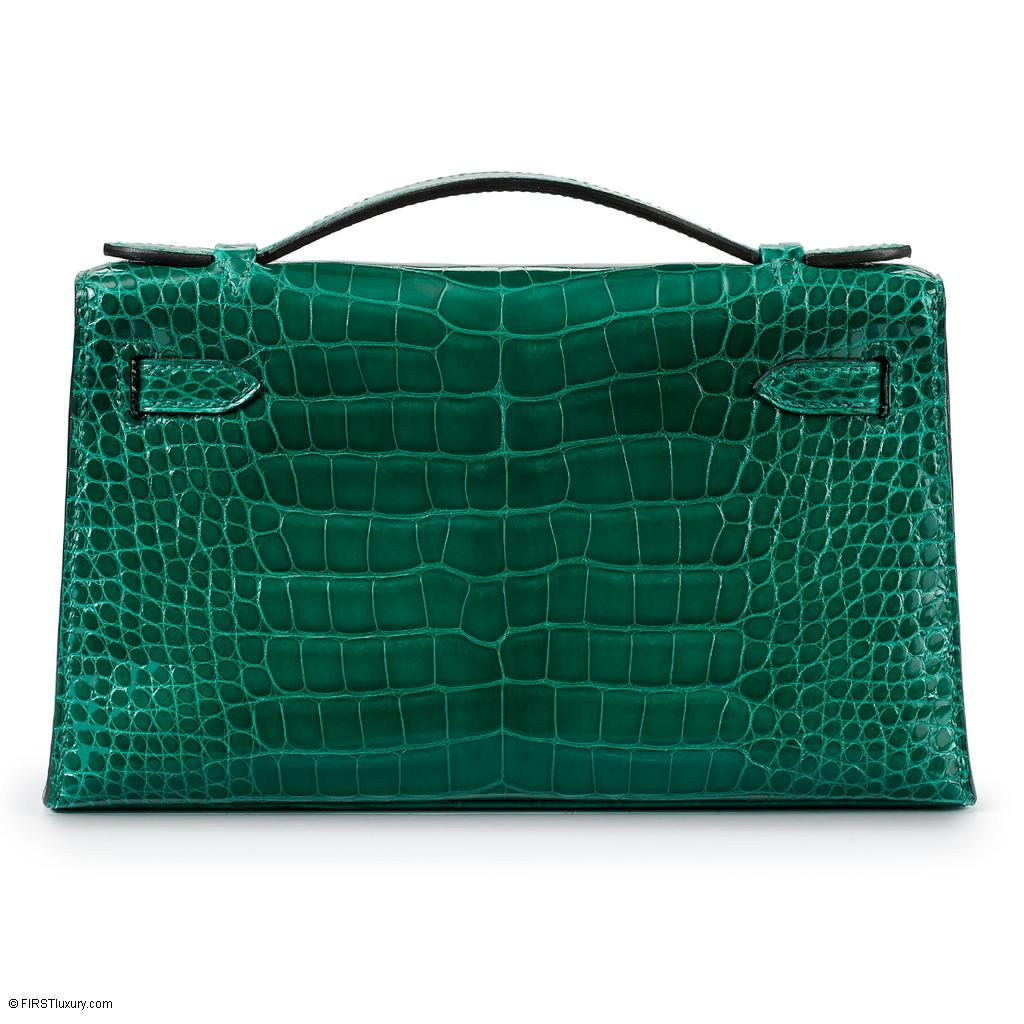 Hermès Kelly Mini Vert Emeraude Crocodile Gold Hardware