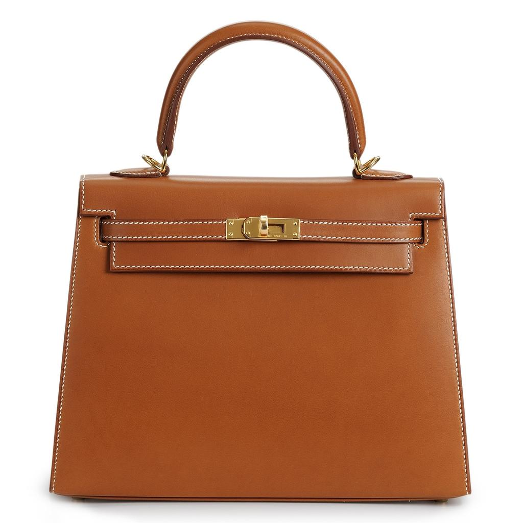 Hermès Kelly Sellier 25 Fauve Barenia Gold Hardware