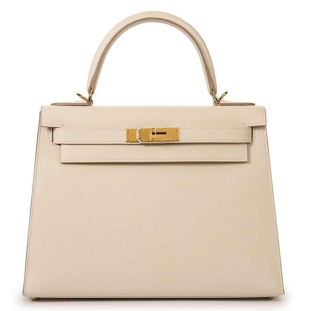 Hermès Kelly Sellier 28 Craie Epsom Gold Hardware